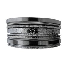 Textured Bangle Bracelet (Set of 11)