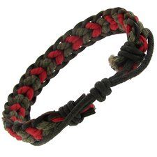 Cord Adjustable Leather Bracelet