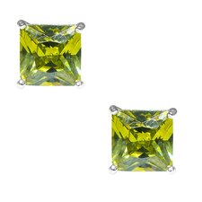 Princess Cut Cubic Zirconia Stud Earring