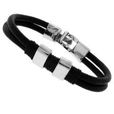 Double Cords with Stainless Steel Accents Bracelet