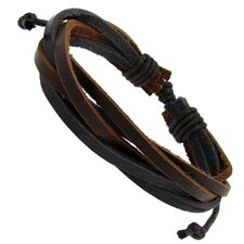 Multi Strand Adjustable Leather Strand Bracelet