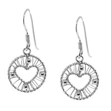 <strong>Moise</strong> Heart Deisgn Dangle Earring
