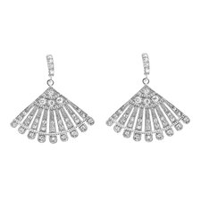 Fan Shape Cubic Zirconia Dangling Earring