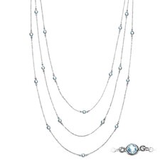 <strong>Moise</strong> Sterling Silver Round Cut Topaz Necklace