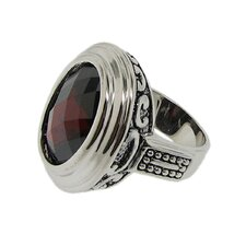Brass Filigree Cubic Zirconia Ring