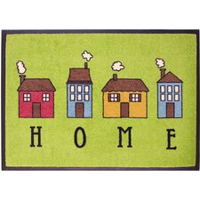 Easy Clean Home Green Doormat