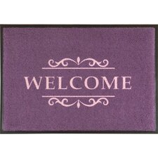 Easy Clean Violet Welcome Doormat
