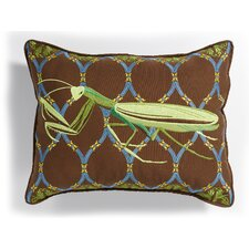 I Sea Life Outdoor Sunbrella Embroidered Dragonfly Pillow