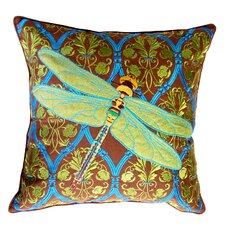 I Sea Life Outdoor Sunbrella Embroidered Praying Mantis Pillow