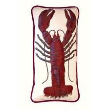 I Sea Life Lumbar Sized Lobster is King Indoor Cotton Toss Pillow