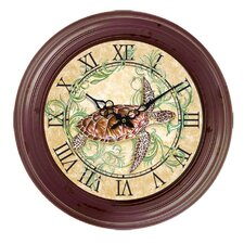 I Sea Life Bezel Turtle Wall Clock