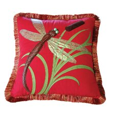 I Sea Life Dragonflies and Cattails Pillow