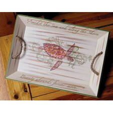 <strong>Rightside Design</strong> I Sea Life Sea Turtle Serving Tray