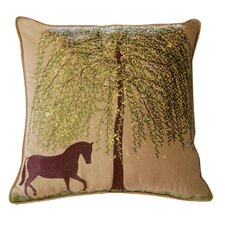 <strong>Rightside Design</strong> Abigail and Lily Equine Spring Willow Outdoor Sunbrella Horse Pillow