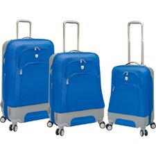 Barcelona EVA 3 Piece Expandable Hybrid Luggage Set