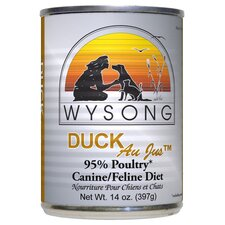Au Jus™ Canned Duck Diet Wet Dog / Cat Food (14-oz, Case of 12)
