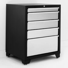 "Pro Stainless Steel 28"" Wide 5 Drawer Bottom Cabinet"