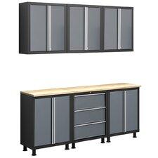 Bold Series 6' D x 6.5' W x 1.5' D 8-Piece Cabinet Set