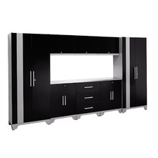 Performance Series 6' H x 11' W x 1.5' D 9 Piece Cabinet Set