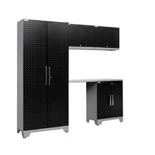 Diamond Plate Performance Series 7' H x 8' W x 2' D 5 Piece Cabinet Set