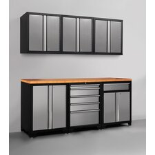 Pro Series 7' H x 7' W x 2' D 7 Piece Cabinet Set