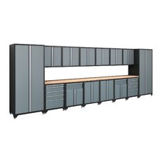 Pro Series 7' H x 20' W x 2' D 16-Piece Cabinet Set