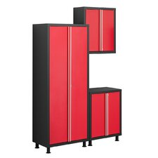 Bold Series 6' H x 5' W x 1.5' D 3-Piece Base Cabinet Set