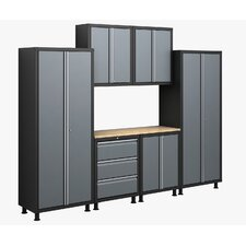 RTA Series 6' H x 9.5' W x 1.5' D 7-Piece Cabinet Set