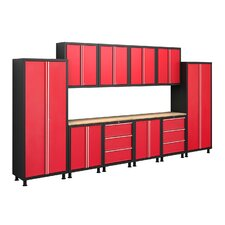 Bold Series 6' H x 14' W x 1.5' D 12 Piece Cabinet Set