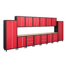 Bold Series 6' H x 18' W x 1.5' D 17-Piece Cabinet Set