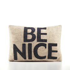 """Be Nice"" Decorative Pillow"