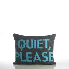 "House Rules ""Quiet Please"" Decorative Pillow"