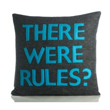 "<strong>Alexandra Ferguson</strong> House Rules ""There Were Rules"" Decorative Pillow"