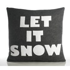 "Weekend Getaway ""Let It Snow"" Decorative Pillow"