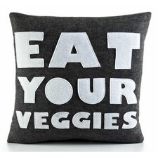 "<strong>Alexandra Ferguson</strong> Good Advice ""Eat Your Veggies"" Decorative Pillow"
