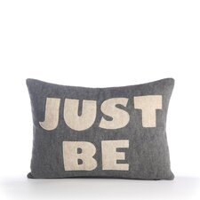 "Zen Master ""Just Be"" Decorative Pillow"