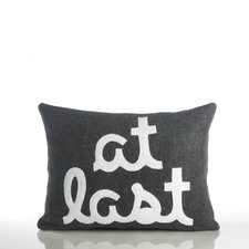"""At Last"" Decorative Pillow"