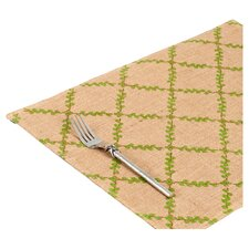Trellis Burlap Placemat (Set of 6)