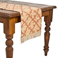 <strong>Ecoaccents</strong> Coral Lattice Burlap Table Runner