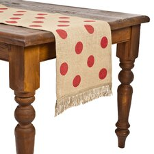 <strong>Ecoaccents</strong> Dot Burlap Table Runner