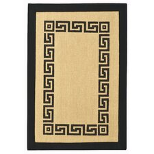 Black Greek Key Rug