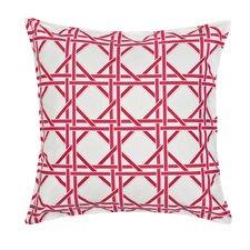 Cane Lattice Cotton Canvas Pillow