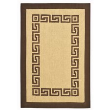 Brown Greek Key Rug