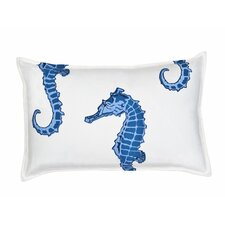 <strong>Ecoaccents</strong> Seahorse Cotton Canvas Pillow