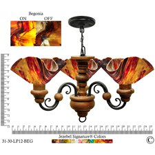 Signature 3 Light Floral Vineyard Chandelier