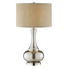Casual Elegance Glass Gourd Table Lamp in Polished Chrome