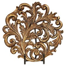 Acanthus Charger & Stand in Antique Gold
