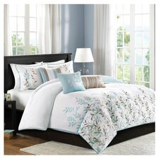 Meadow 6 Piece Duvet Cover Set in Blue