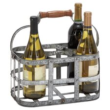 Stowell 6 Bottle Wine Rack in Silver