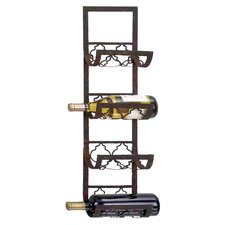4 Bottle Wall Wine Rack in Bronze